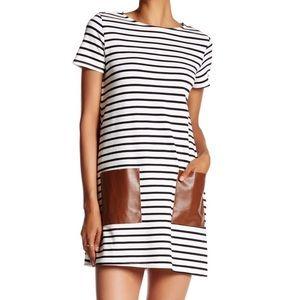 Soprano Faux Striped Shift T-Shirt Dress | NWOT